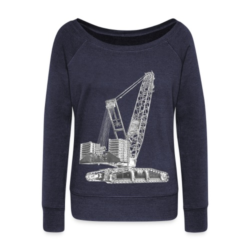 Crawler Crane 750t - Women's Boat Neck Long Sleeve Top