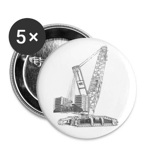 Crawler Crane 750t - Buttons small 1''/25 mm (5-pack)