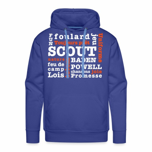 Mots Scouts - Sweat-shirt à capuche Premium pour hommes