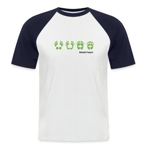 methodist footprint - Männer Baseball-T-Shirt