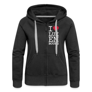 I ♥ Luxembourg Woman's zip hoodie - Women's Premium Hooded Jacket