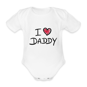 I love daddy - Baby Bio-Kurzarm-Body