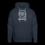 Hoodies & Sweatshirts ~ Men's Premium Hoodie ~ Hoodie Regularprint - Grey/White