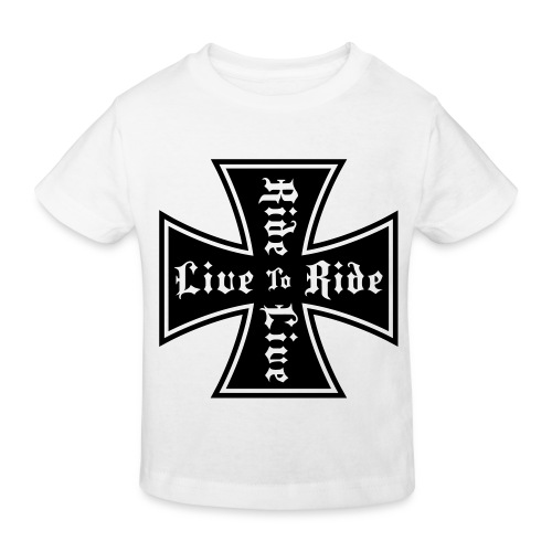 LuciWear Kids White T Live To Ride - Kinderen Bio-T-shirt