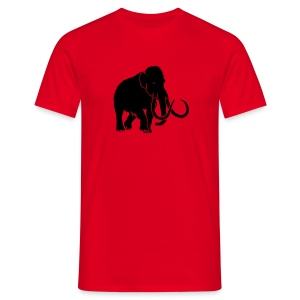 tier t-shirt mammut mammoth steinzeit jäger höhle elefant outdoor - Männer T-Shirt
