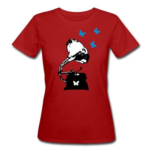 Sound Nomaden Grammophone & Butterflies Shirt Women - Women's Organic T-Shirt