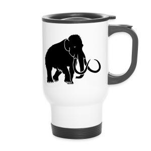 tier t-shirt mammut mammoth steinzeit jäger höhle elefant outdoor - Thermobecher