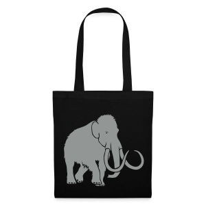 tier t-shirt mammut mammoth steinzeit jäger höhle elefant outdoor - Stoffbeutel