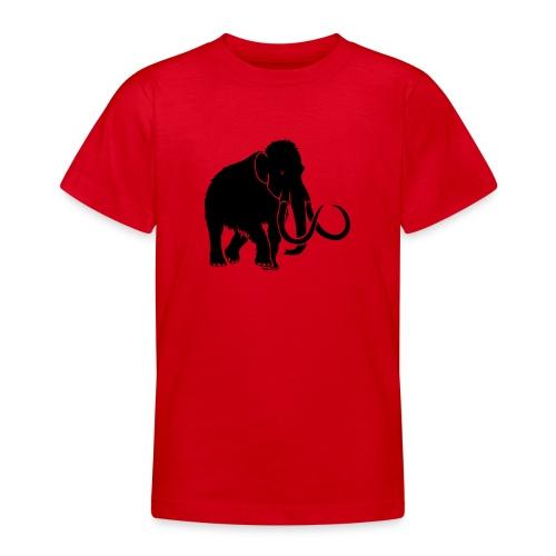 tier t-shirt mammut mammoth steinzeit jäger höhle elefant outdoor - Teenager T-Shirt