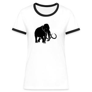 tier t-shirt mammut mammoth steinzeit jäger höhle elefant outdoor - Frauen Kontrast-T-Shirt