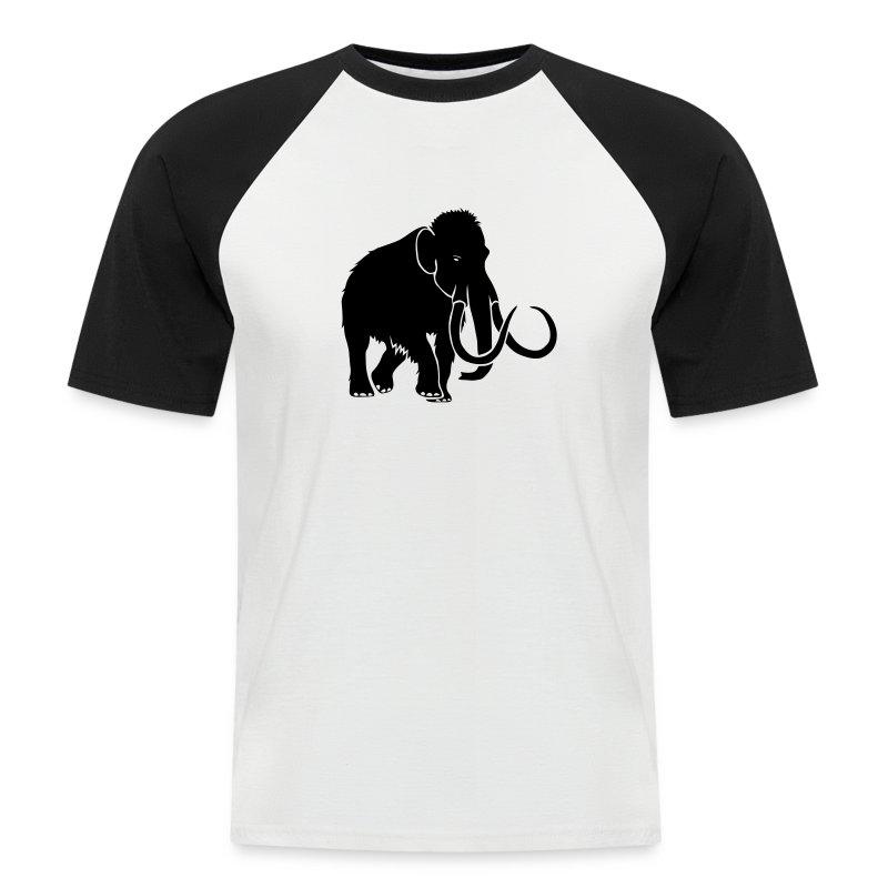 tier t-shirt mammut mammoth steinzeit jäger höhle elefant outdoor - Männer Baseball-T-Shirt