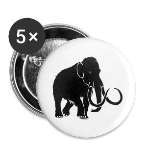 tier t-shirt mammut mammoth steinzeit jäger höhle elefant outdoor - Buttons groß 56 mm