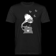 T-Shirts ~ Men's Organic T-shirt ~ Sound Nomaden Grammophone & Butterflies Shirt Men