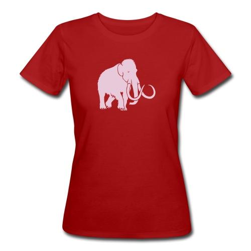 tier t-shirt mammut mammoth steinzeit jäger höhle elefant outdoor - Frauen Bio-T-Shirt