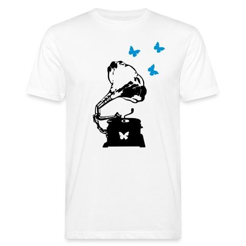 Sound Nomaden Grammophone & Butterflies Shirt Men - Men's Organic T-Shirt