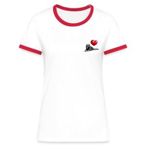 contraste1 - T-shirt contrasté Femme