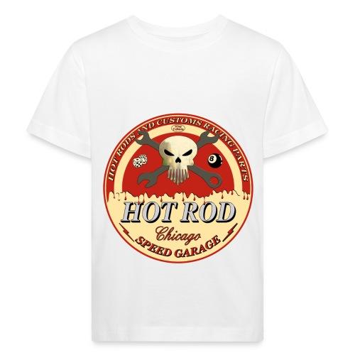 LuciWear Kids White T Speed Garage - Kinderen Bio-T-shirt
