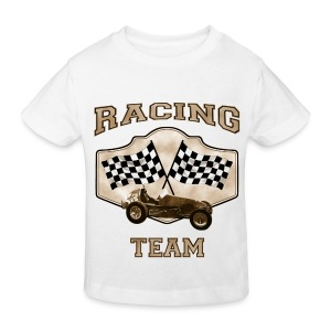 LuciWear Kids White T Racing Team - Kinderen Bio-T-shirt
