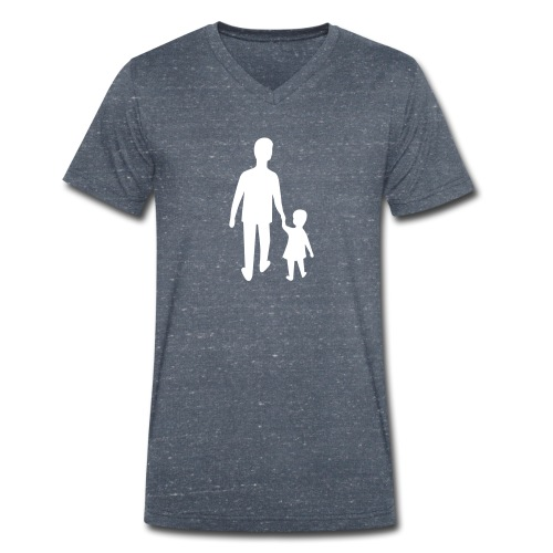 Home with dad - Men's Organic V-Neck T-Shirt by Stanley & Stella