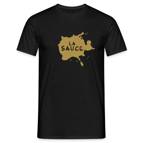 T-Shirt H LASAUCE motif doré - T-shirt Homme