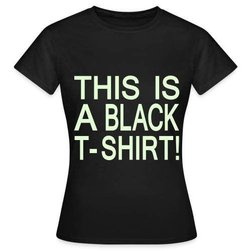 Black T-shirt DAME - T-skjorte for kvinner