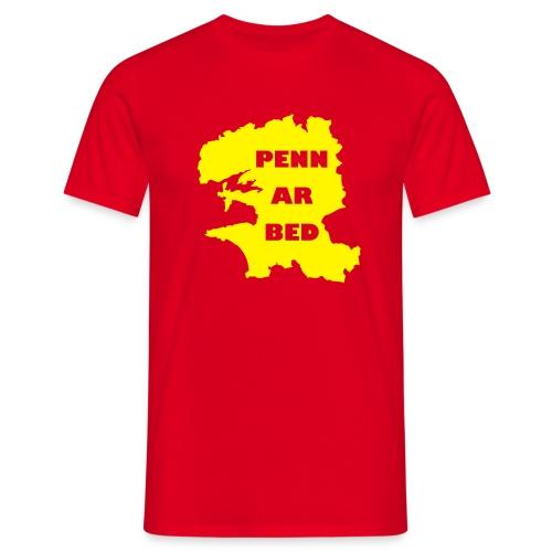 Penn ar Bed - Rouge/jaune - T-shirt Homme