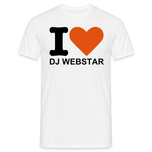 I Love DJ Webstar Fan T-shirt  - Männer T-Shirt