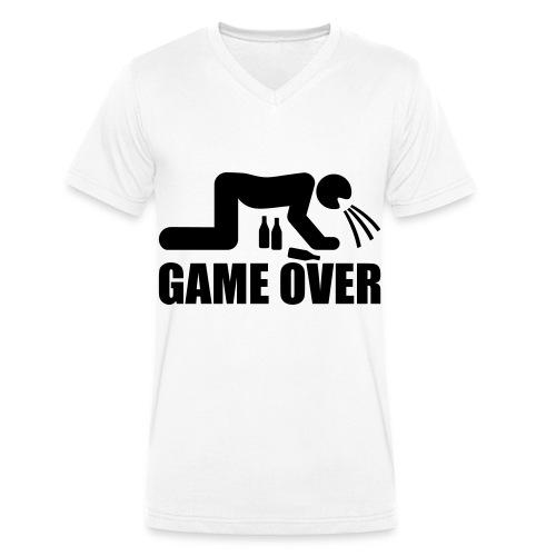 T-shirt Homme Col V Game Over - T-shirt bio col V Stanley & Stella Homme