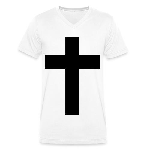 T-Shirt Homme Col V Big Cross - T-shirt bio col V Stanley & Stella Homme