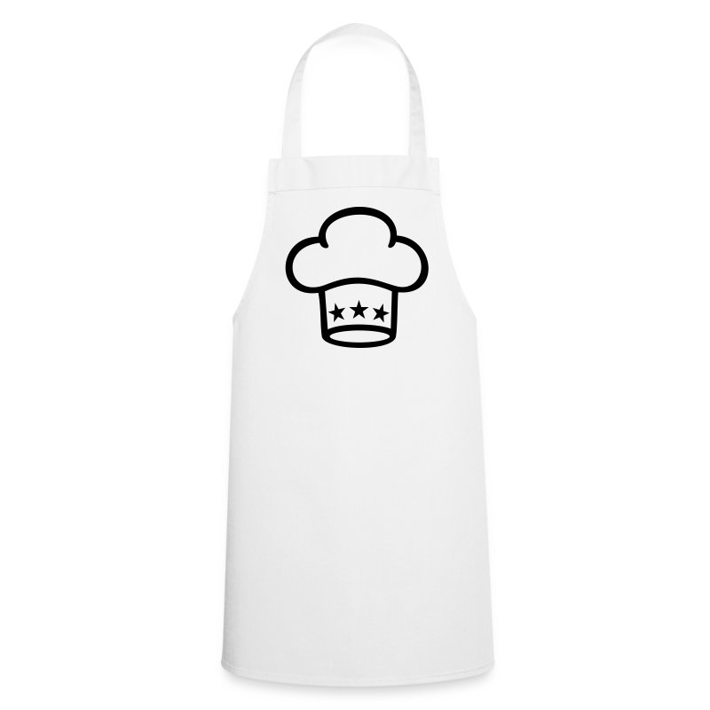 Tablier toque de cuisinier chef s hat spreadshirt for Tablier blanc de cuisine