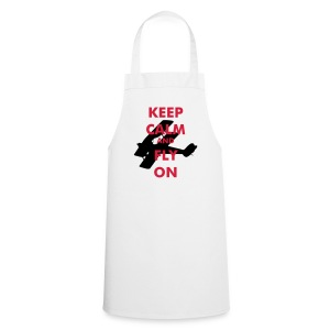 Keep Calm Fly On Biplane - Cooking Apron