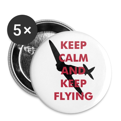 Keep Calm Keep Flying Spitfire - Buttons large 56 mm