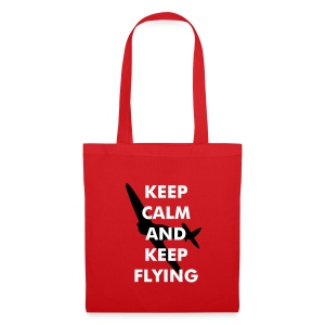 Keep Calm Keep Flying Spitfire - Tote Bag