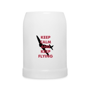 Keep Calm Keep Flying Spitfire - Beer Mug
