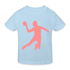 handbal shirt met bedrukking van handbal - Kinderen Bio-T-shirt