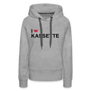 I Love KASSETTE - Women's Hooded Sweatshirt - Women's Premium Hoodie