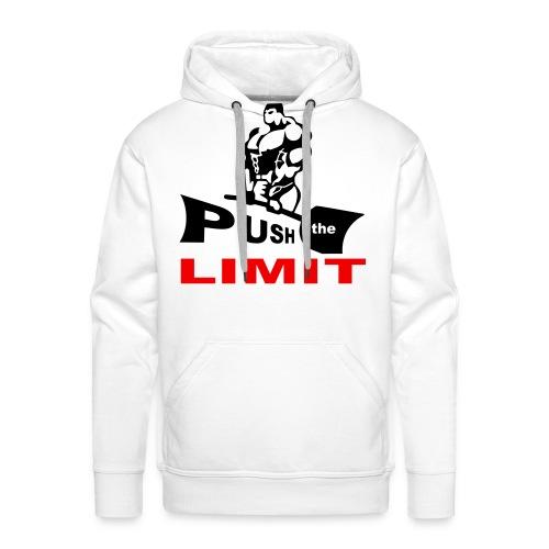 SWEAT clair (CAPUCHE) PUSH the LIMIT bicolorfloc 1 - Sweat-shirt à capuche Premium pour hommes