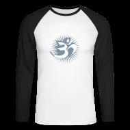 Langarmshirts ~ Männer Baseballshirt langarm ~ OM 3D silver - Baseballshirt