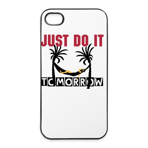 just do it tomorrow iPhone 4/4S case - iPhone 4/4s hard case