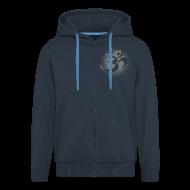 Pullover & Hoodies ~ Männer Premium Kapuzenjacke ~ 2x OM 3D gray - Kapuzenjacke