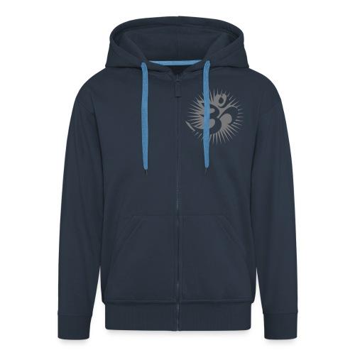 2x OM 3D gray - Kapuzenjacke - Männer Premium Kapuzenjacke