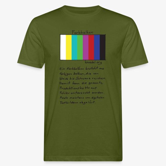 Filmtalk Farbbalken   T-Shirt Bio (CC)   Men