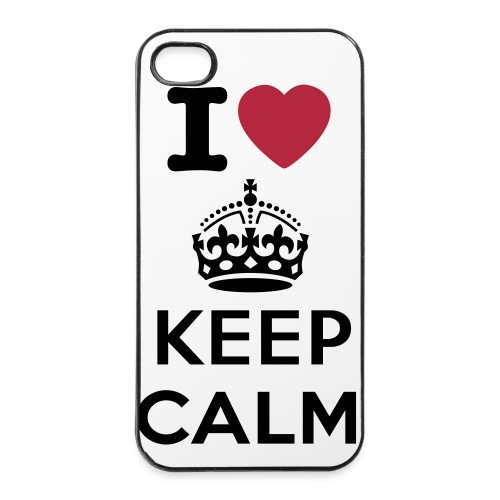 Keep Calm iPhone 4S hoesje. - iPhone 4/4s hard case