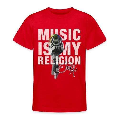 Music Is My Religion - Teen Tee - Teenager T-Shirt