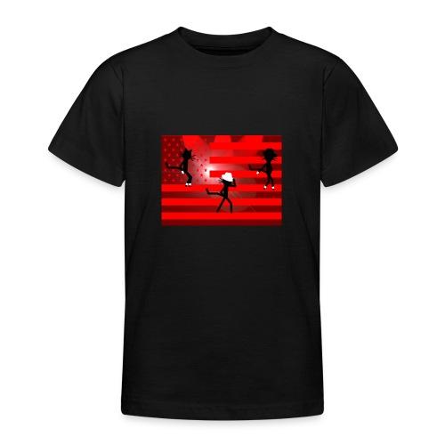 Katzenshirt Kittycat tanzt - Teenager T-Shirt
