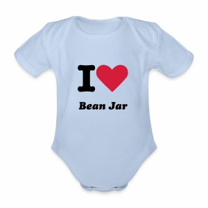 Baby Grow Guernsey Bean Jar - Organic Short-sleeved Baby Bodysuit