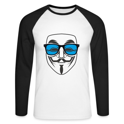 Tee shirt baseball manches longues Homme anonymous sunglasses - T-shirt baseball manches longues Homme