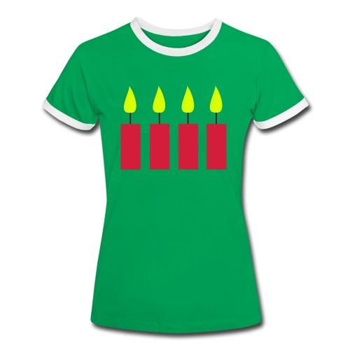 T-Shirt, vierter Advent - Frauen Kontrast-T-Shirt