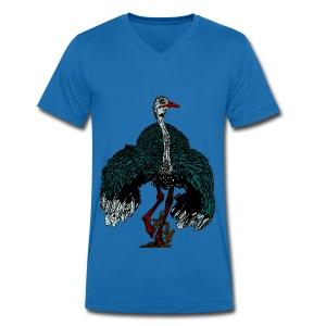 mannen T-shirt met struisvogel - Mannen bio T-shirt met V-hals van Stanley & Stella
