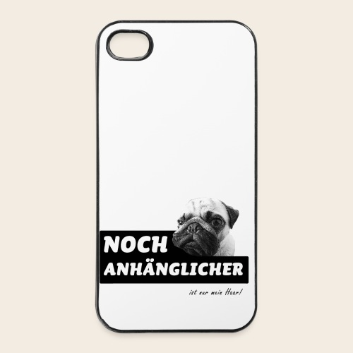 Anhänglicher Mops iPhone 4/4S Case - iPhone 4/4s Hard Case